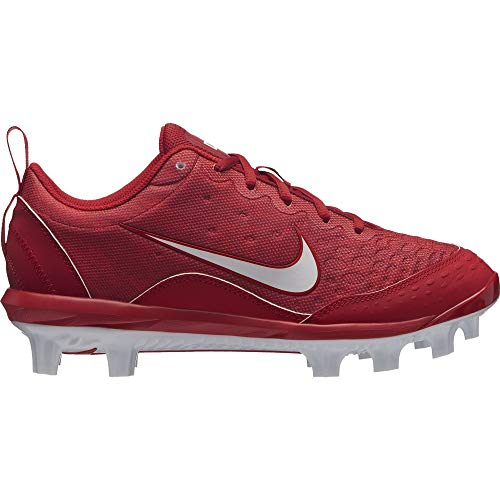 Nike Women's Hyperdiamond 2 Pro MCS Softball Cleat Gym Red/White/University Red Size 8.5 M US