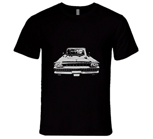 cargeekteescom-1959-mercury-monterey-grill-white-graphic-t-shirt-l-black