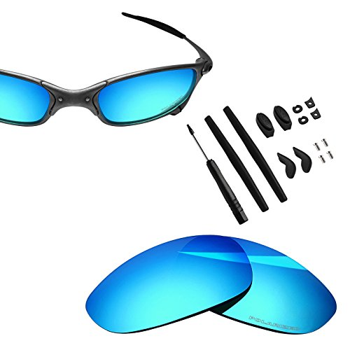 BlazerBuck Anti-salt Polarized Replacement Lenses & Sock Kit for Oakley Juliet - Ice Blue (Replacement Lens Kit)