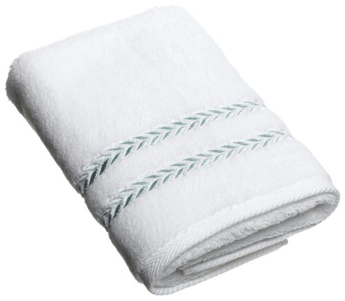 Lenox Pearl Essence Hand Towel, White & Mint ()