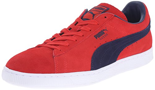 PUMA Adult Suede Classic Shoe Flame Scarlet/Peacoat