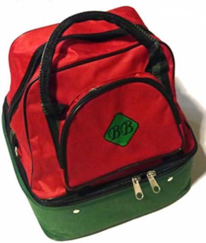 クラウングリーン/フラットグリーン4ボウルミニバッグ 赤 / 緑