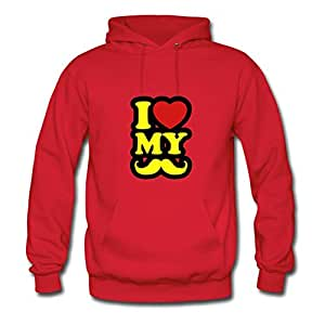 Creative Women The I Love My Mustache Image X-large Hoody Red