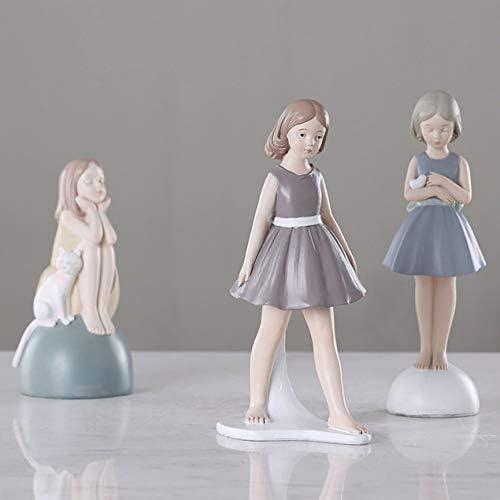 ガールクリエイティブガールピースの樹脂クラフトルーム装飾ガールギフトラブクラフトリビングルーム装飾ホーム小さな装飾品