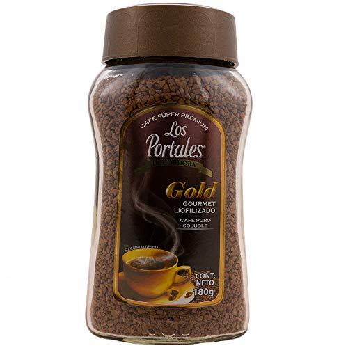 Los Portales de Cordoba Café Super Premium Gold Gourmet Liofilizado, 180 g