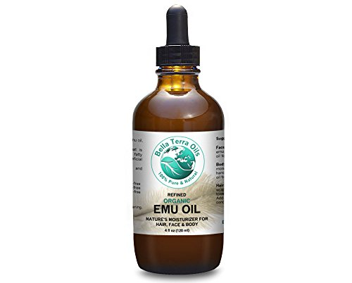Emu Oil 4 oz 100% Pure Fully Refined Organic Undiluted - Bella Terra Oils