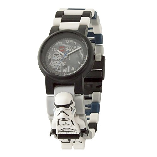 LEGO Star Wars 8021025 The Last Jedi Stormtrooper Kids Minifigure Link Buildable Watch | white/blue| plastic | 28mm case diameter| analogue quartz | boy girl | official