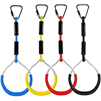 TOOGOO Colorful Swing Gymnastic Rings Outdoor Play Sets Playground Equipment for Ninja Line Monkey Ring Climbing Ring Obstacle Ring Swing Toys Set