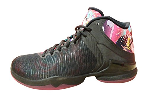 Nike Kids's NIKE AIR JORDAN 13 RETRO (GS) BASKETBALL SHOES 5 (BLK/VRSTY RD/WHITE/VBRNT YLLW) by Jordan