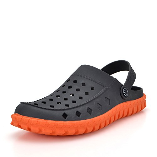 Clogs for Men Beach Shoes - 2017 Exclusive New Collection Earsoon JS17002 Mens Clogs Mules Rubber Clogs Slippers The Clogs for Male Boys House Airport Swimming Pool Washing Car Shoes Clog, Heavy Duty