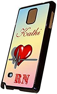 Customized RN Nurse Samsung Galaxy Note 4 Hard Case Black, By Sublifascination, No. 269 Will Be Delivered in a Golden Gift Box. Created and Built in Texas, USA.