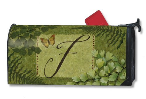 Nature's Script Monogram F Magnetic Mailbox (Personalized Mailbox Covers)