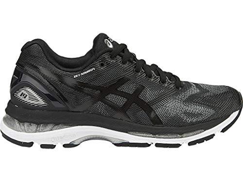 ASICS Women's Gel-Nimbus 19 Running Shoe, Black/Onyx/Silver, 8 M US
