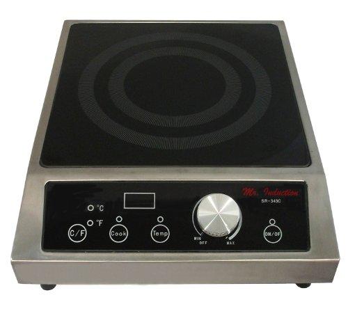 Mr. Induction SR-343C 3400-Watt Countertop Commercial Range - 208-240-Volt