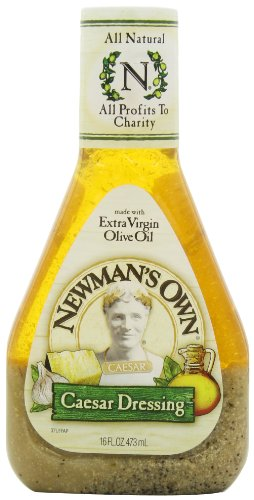 Newman's Own Salad Dressing, Caesar, 16-Ounce Bottles (Pack of (Easy Caesar Salad Dressing)