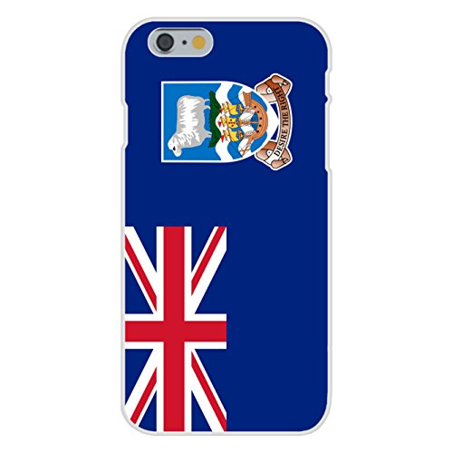 Apple iPhone 6 Custom Case White Plastic Snap On - Falkland Islands - World Country National Flags ()