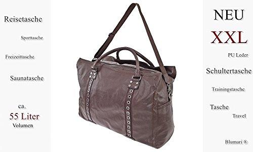 Reisetasche, Pilotentasche, XXL, Schultertasche, Umhängetasche, Handtasche allrounder Reisetasche Sporttasche Reisegepäck Tasche Weekender