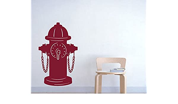 Amazon com fire hydrant wall decals stickers red 36 home kitchen
