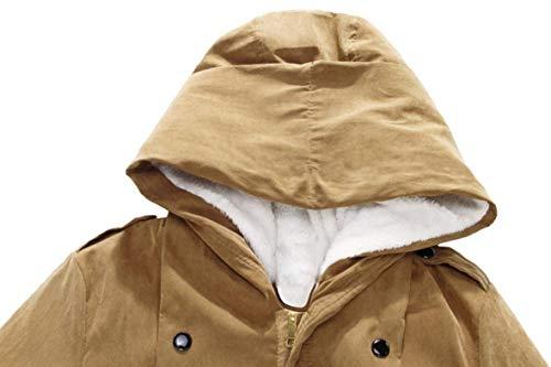 Front Con Pile Il Caldo Piumino Maschile Ispessisce Inverno In Cappuccio Marrone Cappotto Ttyllmao zip tq5wYnf