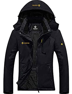 GEMYSE Women's Mountain Waterproof Ski Jacket Windproof Rain Jacket
