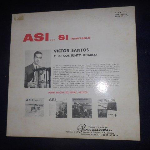 Asi .... si Inimitable , Victor Santos y su Conjunto Ritmico (Vinyl // Palacio)