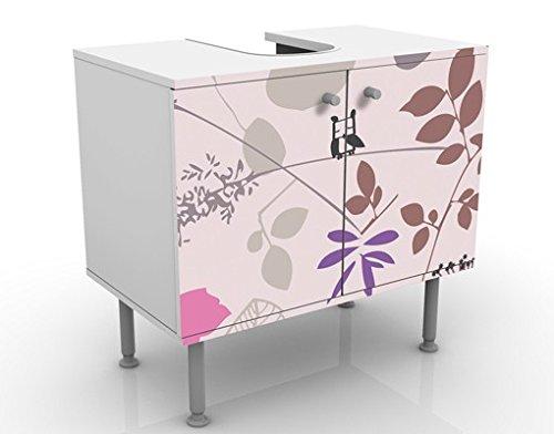 Mobile per lavabo design living below 60x55x35cm basso larghezza 60cm regolabile mobiletto - Mobile basso bagno ...
