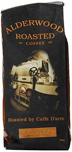 Caffe D'arte Fabriano-Alderwood Espresso Whole Bean Coffee, 12-Ounce Foil Bags (Pack of 2)