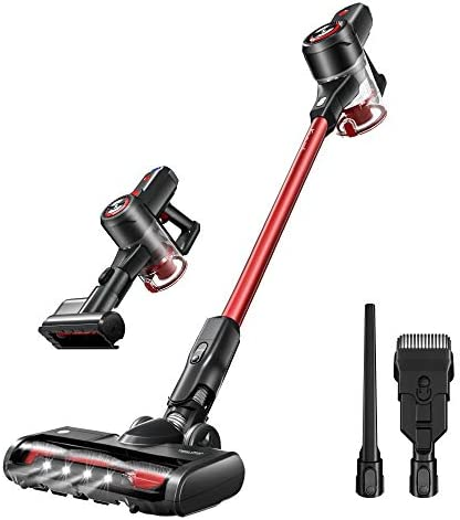 Kyvol V20 Cordless Vacuum Cleaner, 25Kpa Strong Suction, 40 minutes Runtime, Ultra-Quiet, Lightweight, Detachable Battery, 2 in 1 Cordless Stick Vacuum for Deep Clean Pet Hair Carpet Hard Floor