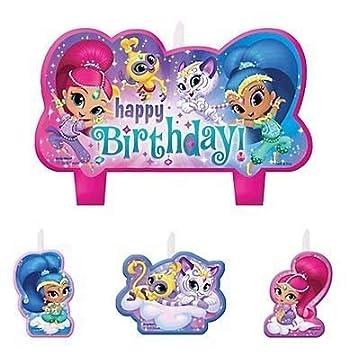 Amazon.com: Shimmer y Shine – Velas de cumpleaños set de 4 ...