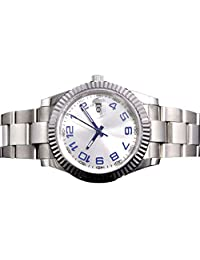 Whatswatch 40mm Parnis white dial Luminous Sapphire glass Automatic Mens Wrist Watch LQ-001