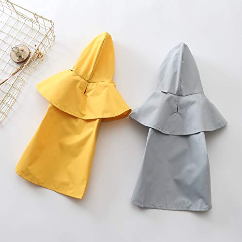 Dog Raincoat for Small Dogs and Cats - Puppy Waterproof Clothes - Pet Poncho for Teddy and Other Puppy (XXL, Grey)