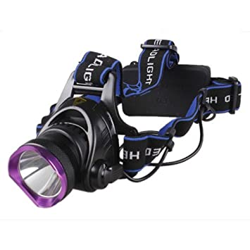 WindFire New Outdoor Super Bright CREE XM-L XML T6 U2 LED 1800 Lm Headlamp Rechargeable Headlight AC Charger /& 2x WindFire 4000mah 18650 Rechargeable Batteries Black and silver
