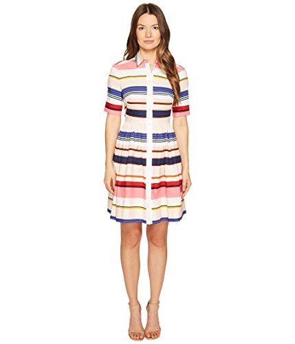 Kate Spade New York Women's Cape Stripe Shirtdress Multi Dress 10