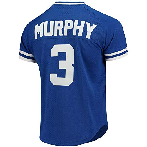 Men's/Women's/Youth 2019 Basaball Official Base Majestic Dale_Murphy_Mitchell_#3_Atlanta_Player_Braves Jersey M Blue