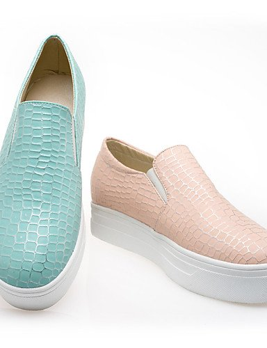 Uk8 Semicuero Zq Mujer Zapatos Gyht Punta 5 5 Pink Redonda Creepers Azul Eu42 Eu 5 Casual Cn43 Mocasines negro Vestido Plataforma Exterior De us10 Black us10 r77Hq5xw