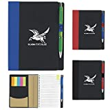 Good Value 5? x 7? ECO Notebook with Flags Black 100 Pack