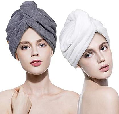 Magic Microfiber Women Hair Drying Towel Cap Bath Head Turban Hat Quick DRY