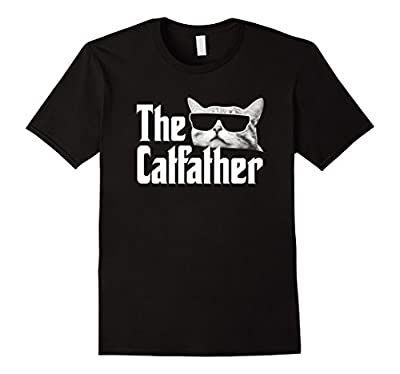 The Catfather T-Shirt Funny Gift Shirt for Cat Daddy