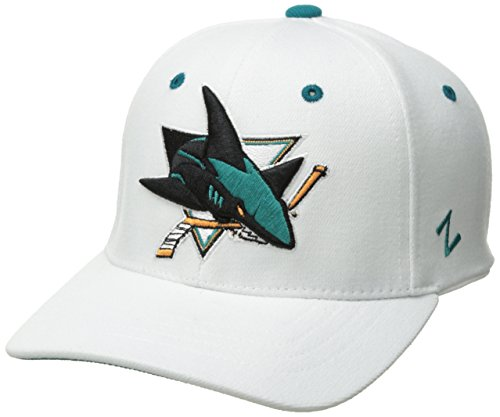NHL San Jose Sharks Men's Breakaway Cap, Large, White