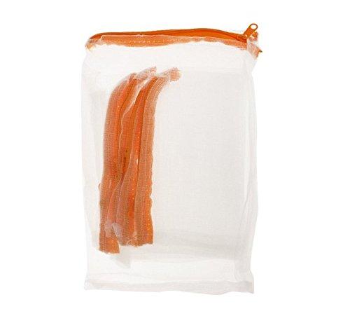 Nalmatoionme en nylon fermeture Éclair Sacs en maille filet pour aquarium Filtre de bassin médias (Rancom Fermeture Éclair Couleur)