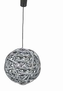Dupi - Luz colgante de techo brizma de 42cm, medidas 106 x 40 x 40 cm, color gris