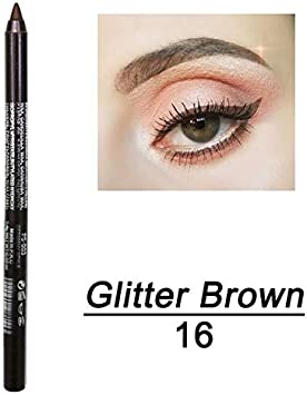 Maxpex Multicolor Eyeshadow Eyeliner 2 In 1 Metallic Shiny Smoky Eyes Glitter 14 Color 1pc