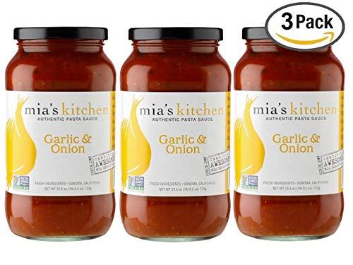 Mia's Kitchen Garlic Onion Pasta Sauce 3-Pack