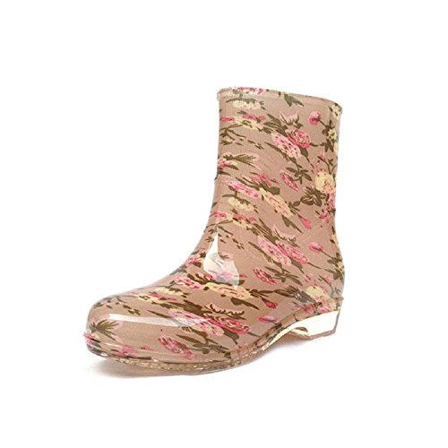 Alger Home outdoor ladies rain boots, flower, 38