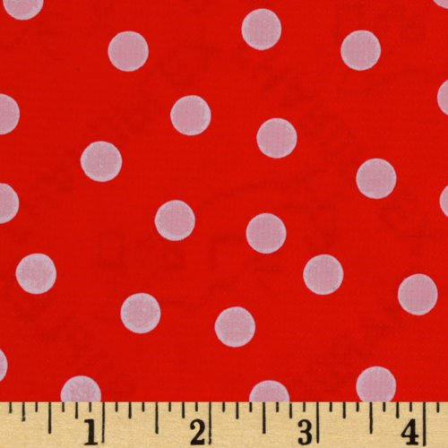 [Oilcloth Polka Dot Red/White Fabric By The Yard] (Polka Dot Oilcloth)