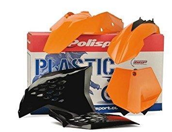 Polisport Plastics Kit Orange KTM SX 125 525 EXC 01-03 - Atv Parafango Posteriore