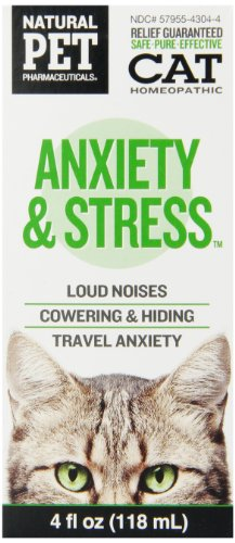 Natural Pet Pharmaceuticals by King Bio Anxiety and Stress Control for Cat, (Symptoms Of Anxiety And Stress)