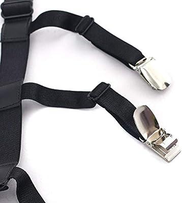 ZPADCYDD 2 unids/par Camisa para Hombre Estancias Ligas Titulares de Camisa Ajustables de Nylon elástico Cinturón de Resistencia al Pliegue Tirantes Estilo Estribo: Amazon.es: Hogar