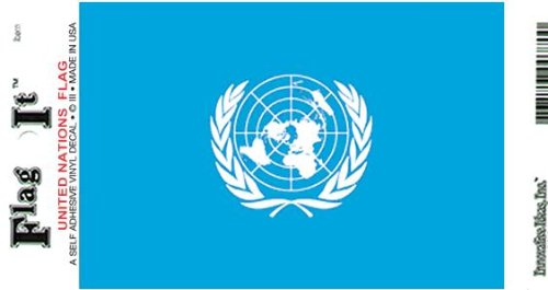 United Nations Heavy Duty Vinyl Bumper Sticker (3 x 5 Inches)