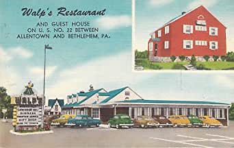 E0618 Pa Allentown Walps Rest Guest House Postcard At